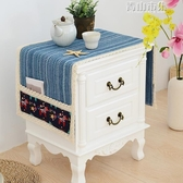 簡約 床頭櫃蓋布冰箱洗衣機蓋佈防塵布小桌布遮蓋床頭布蓋布罩青山市集