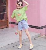 女童短袖t恤夏裝2020新款中大童寬鬆半袖兒童純棉洋氣韓版夏季潮 滿天星