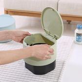 即止小垃圾桶桌面垃圾盒 迷你可愛韓式小型辦公桌上帶蓋垃圾桶3 4 (庫存清出S )