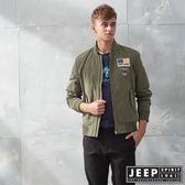 【JEEP】型男立領休閒飛行外套 (橄欖綠)