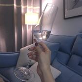 無鉛水晶紅酒杯套裝香檳杯高腳杯起泡酒杯對杯婚慶情侶杯兩支裝 米菲良品