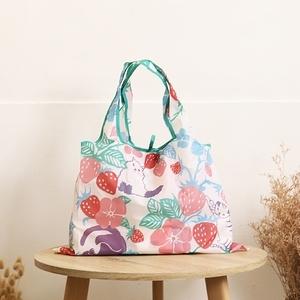 日本Prairie Dog 設計包/環保袋/購物袋 - 草莓躲貓貓