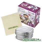 CamelWill CW-304不鏽鋼戶外六件組 19-00015 杯子 盤子 鍋 煎鍋 露營 戶外 登山 野炊 餐具組