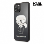 KARL LAGERFELD IKONIK亮銀墨鏡 IPHONE 11 PRO MAX手機殼-黑