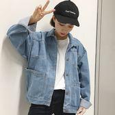牛仔外套女春秋季2018新款韓版寬鬆學生bf原宿棒球服夾克薄上衣潮