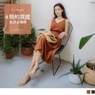《DA7601》簡約質感不易皺腰綁帶無袖美背長洋裝 OrangeBear