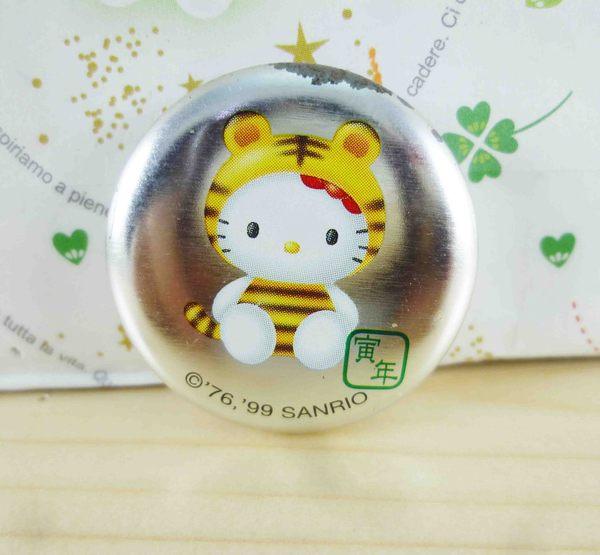 【震撼精品百貨】Hello Kitty 凱蒂貓~KITTY別針-圓型-生肖系列-虎圖案