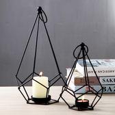 燭台鐵藝餐桌創意 擺件燭台道具 婚禮婚慶擺件道具樣板房