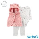 【美國 carter s】 小熊背心3件組套裝
