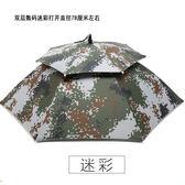 頭戴傘帽折疊頭傘頭帶太陽傘釣魚傘包折疊垂釣傘加厚釣魚傘帽 igo