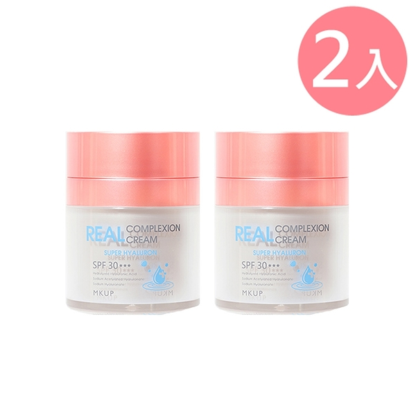 MKUP 美咖 超級玻尿酸素顏霜 30ML【2入組】