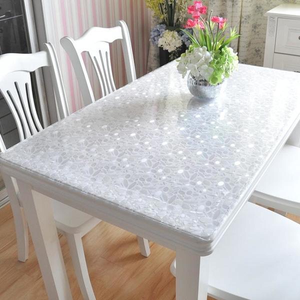 PVC防水防燙桌布軟塑料玻璃透明餐桌布桌墊免洗茶幾墊臺布 「夢幻小鎮」