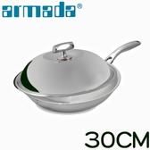 【armada 阿曼達】菁英系列316不鏽鋼複合金單柄炒鍋(30CM)