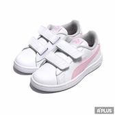PUMA 中童鞋 Puma Smash v2 L V P 白粉 黏帶-36517328