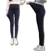 BabyShare時尚孕婦裝【OC631】現貨 仿舊刷色牛仔彈力褲 孕婦褲 窄管褲 托腹 腰圍可調 打底褲 長褲