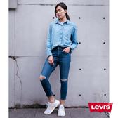 Levis 女款 Revel 高腰緊身提臀牛仔褲 / 超彈力塑形布料 / 後褲管拉鍊設計