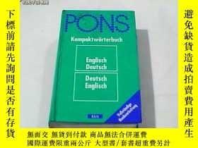 二手書博民逛書店德文原版罕見PONS Kompaktwörterbuch Englisch-Deutsch,Deutsch-Eng