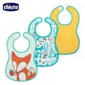 chicco-可愛動物防水圍兜(自然率性)3入