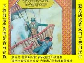 二手書博民逛書店Around罕見the World in Eighty Days(凡爾納《環遊地球八十天》 1979年版16開插圖