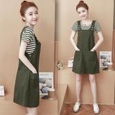 兩件式洋裝春夏天新款韓版流行氣質收腰顯瘦吊背帶兩件套套裝