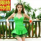 連身女泳裝-遮肚顯瘦網紗裙襬裙式比基尼泳衣67h12【時尚巴黎】