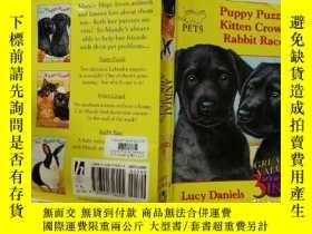 二手書博民逛書店puppy罕見puzzle Kitten Crowd Rabbit Race:小狗拼圖貓群兔子賽跑Y20039