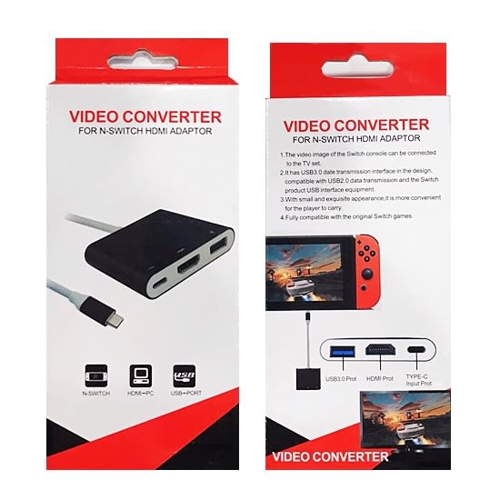 [哈GAME族]免運費 可刷卡 Switch NS Type-C TO HDMI 便攜TV螢幕轉換器 USB3.0 HDMI TYPE-C