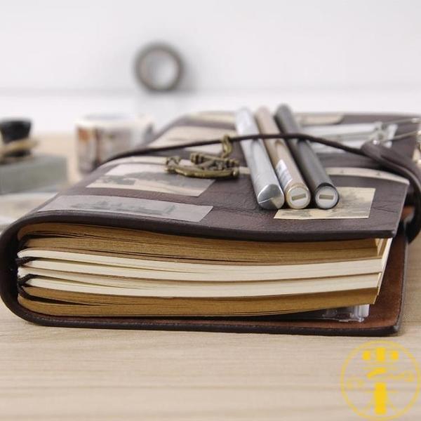 旅行手帳本子復古隨身筆記本日記本活頁記事本【雲木雜貨】