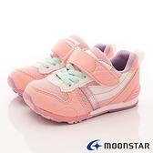 日本月星Moonstar機能童鞋HI系列2E穩定款-MSC2121S64櫻花粉