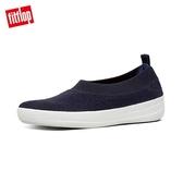 新進7折【FitFlop】COMFFKNIT BALLERINAS 易穿脫舒適休閒娃鞋-女(極光藍)
