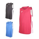 ASICS 男女雙面籃球背心 (免運 兩面穿 無袖上衣 訓練 籃球 亞瑟士≡排汗專家≡