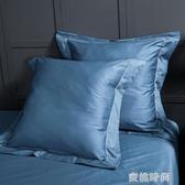 奢華臥室靠墊套床上靠墊靠背簡約純色床頭抱枕靠枕一對60支長絨棉『蜜桃時尚』