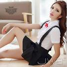 情趣用品 女性商品 蘿莉誘人‧可愛吊帶小學生2件式(短襯衫+百褶短裙) 角色扮演服
