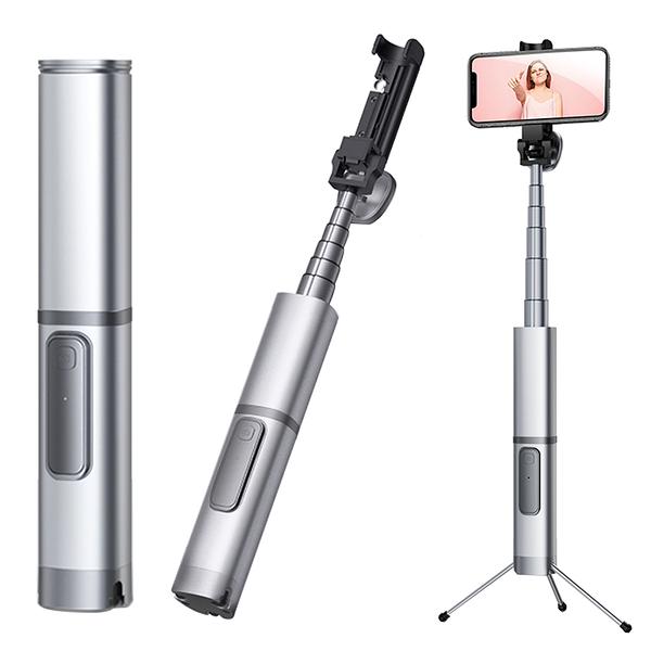 幻影藍牙自拍棒 鋁合金外殼 一體式三腳架 APPLE iPhone Xs XR Xs Max 手機藍芽自拍伸縮棒 NCC認證