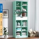 書架 多層收納架 書架簡約落地多層簡易客廳家用書櫃學生臥室省空間多功能組合書櫃