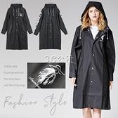 雨衣 成人男女情侶潮款黑色繫大碼防暴雨時尚徒步加大長款雨衣雨披外套 3c公社