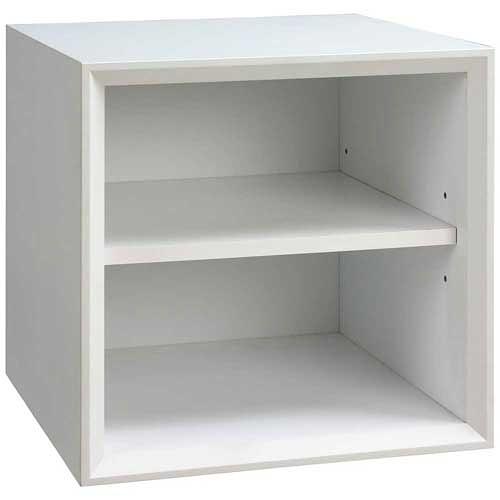 【藝匠】魔術方塊白色小棚板櫃收納櫃 家具 組合櫃 廚具 收藏 置物櫃 櫃子 小櫃子