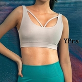 【YPRA】運動內衣 高強度 防震 聚攏 瑜伽文胸 背心式 美背