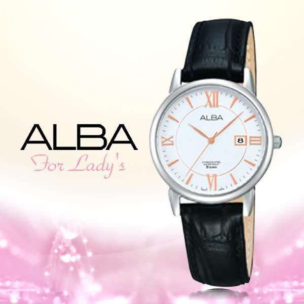 CASIO 手錶 專賣店 ALBA 雅柏 精工 AH7D07X1 女錶 石英錶 白色錶盤 皮革錶帶
