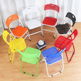 塑料折疊靠背凳 可折疊會議辦公椅 培訓椅學生椅塑料折疊凳子餐椅WY