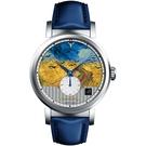 梵谷Van Gogh Swiss Watch小秒盤梵谷經典名畫男錶 C-SLMW-27  烏鴉麥田
