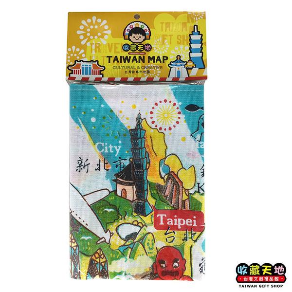 【收藏天地】台灣紀念品*台灣創意布地圖-陽光台灣 ∕  掛布 裝飾 送禮 文創 風景 觀光 禮品