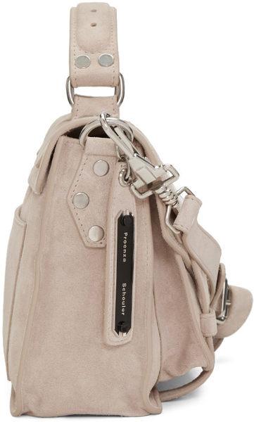 Proenza Schouler PS1 中款 山羊皮 麂皮 手提 肩斜背 兩用包  米色