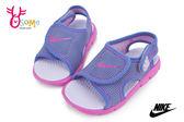 NIKE小童涼鞋 輕量 魔鬼氈 運動型涼鞋N7170#紫色◆OSOME奧森童鞋_pic