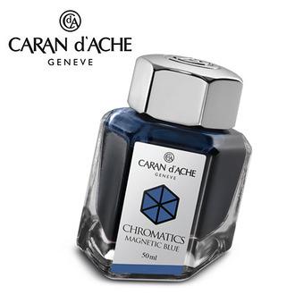 CARAN d'ACHE 瑞士卡達 Chromatics 色彩墨水. 磁性藍 / 瓶