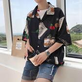 男士寬鬆休閒短袖襯衣韓版學生潮流