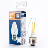 特力屋 LED燈絲燈泡 4W 燈泡色 蠟燭型 全電壓