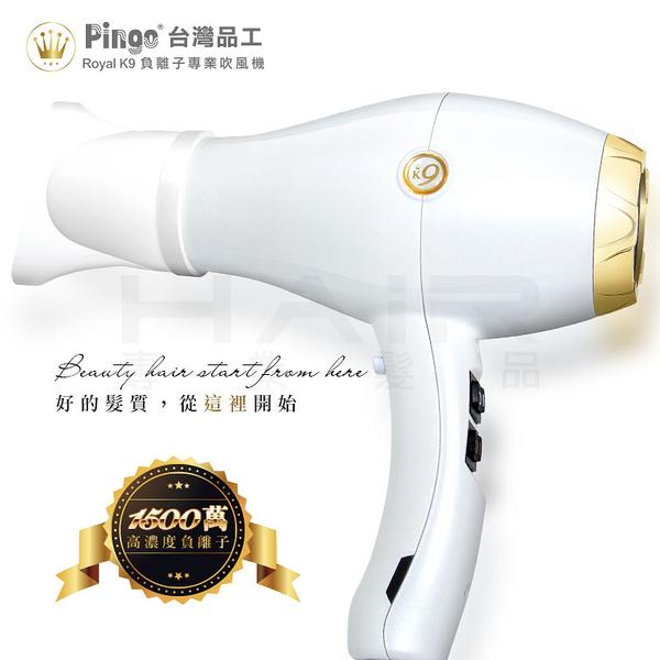 PINGO 台灣品工 Royal K9 負離子專業吹風機【HAiR美髮網】