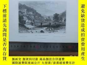 二手書博民逛書店【罕見】19世紀 銅 鋼版畫 單幅 VIEW NEAR PLAS
