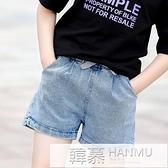 女童牛仔短褲2021新款洋氣中大童夏季薄款褲子兒童夏裝百搭外穿潮 萬聖節狂歡